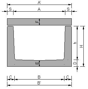 Canalette in cemento a sezione rettangolare con piastra - Pref.ti Lucchese srl