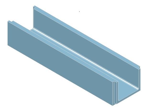 Canalette in cemento a sezione rettangolare aperta - Pref.ti Lucchese srl